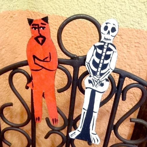 メキシコのマグネット赤い悪魔「ディアブロ」とガイコツ[Pick Up]