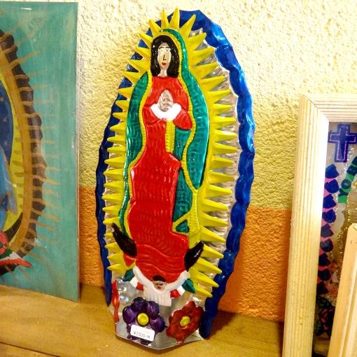 メキシコのグアダルーペの聖母マリア様のブリキオーナメント