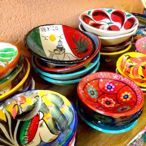 メキシコの陶器の絵皿