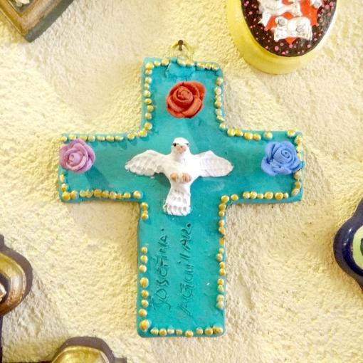 メキシコのオアハカ アールギラルさんの十字架