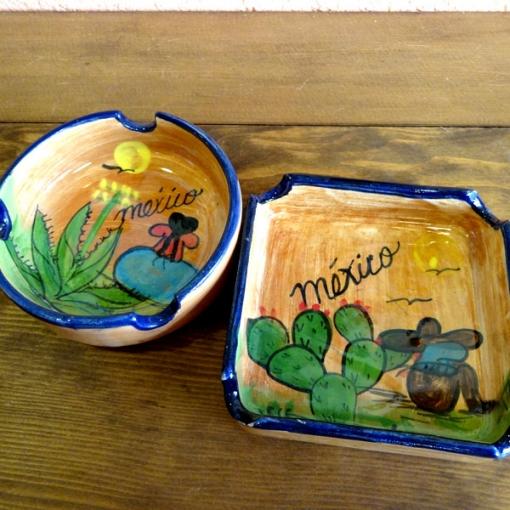 メキシコのアンティーク調のサボテン灰皿
