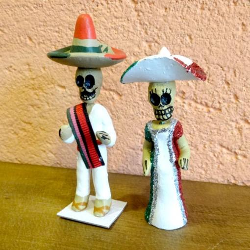 メキシコのガイコツ人形カップル
