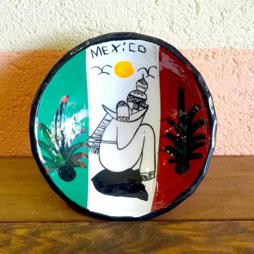 メキシコのサボテンの絵皿