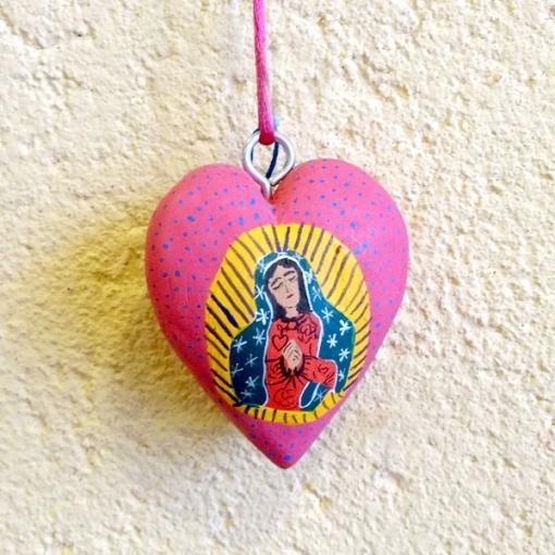 メキシコのマリア様の木製飾り