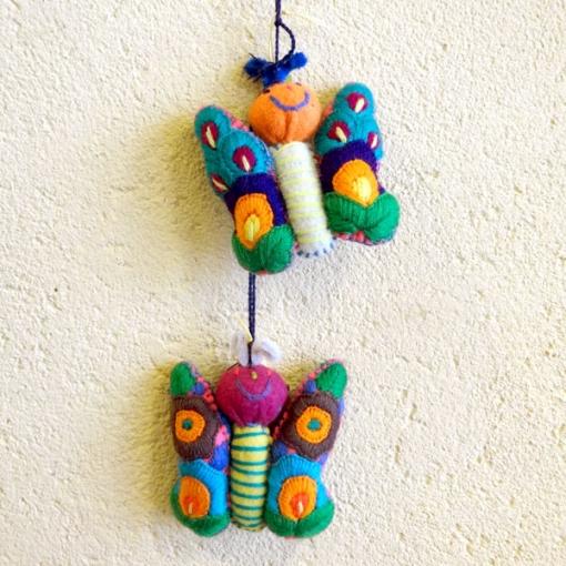 メキシコのぬいぐるみ「アニマリート」蝶々