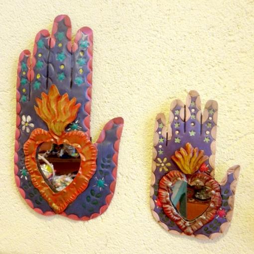 メキシコの手のブリキミラー