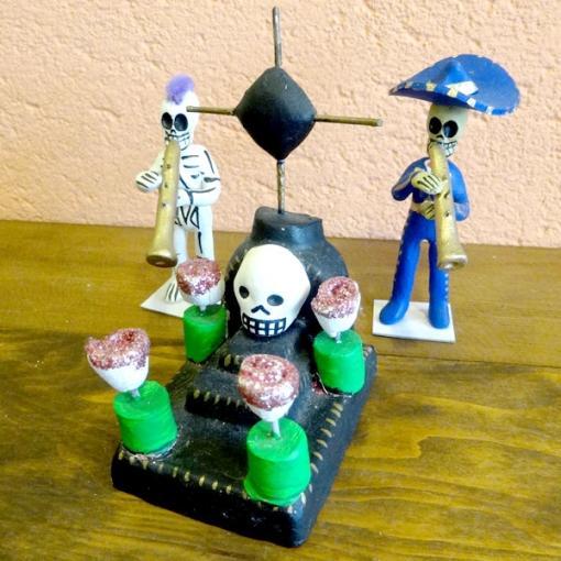 メキシコのガイコツのお墓
