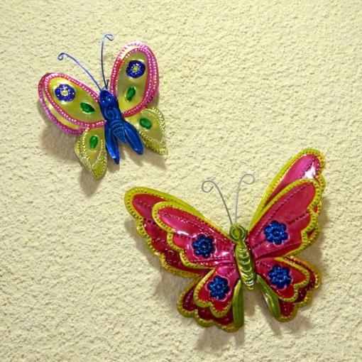 メキシコのブリキオーナメント蝶々
