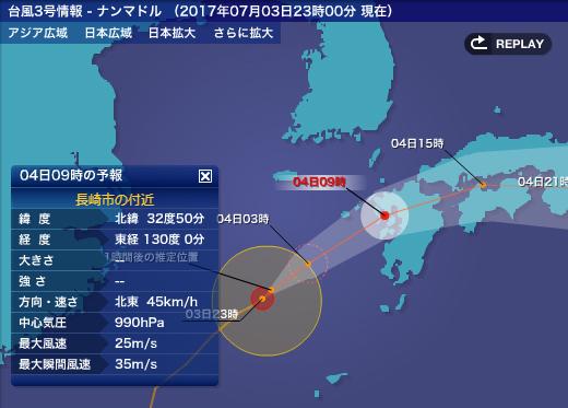 2017年台風3号