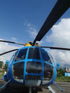 ロシア製ヘリ