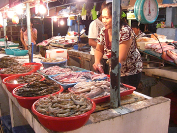 マニラの海鮮市場