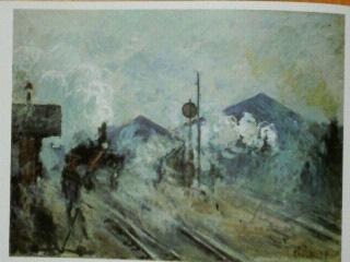 モネ:サン・ラザール駅の線路
