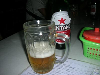 お疲れビール。
