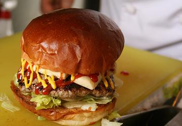 本当に美味しいハンバーガー写真