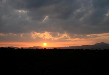 草津の夕日