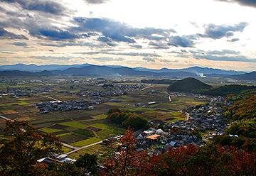 太郎坊宮からの眺望