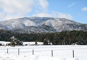 安曇川の雪景色