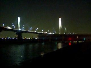 葛飾ハープ橋の夜景