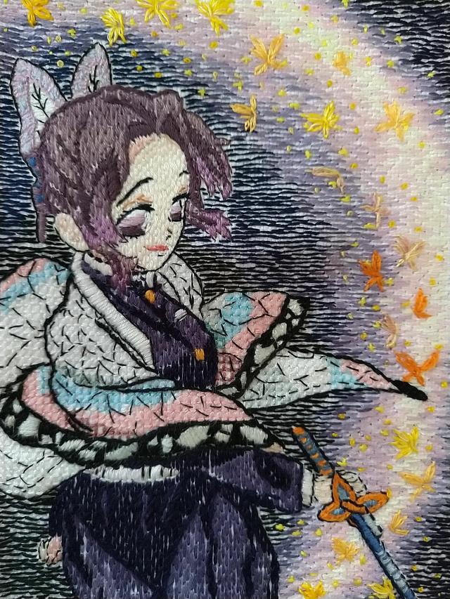 刺繍ー胡蝶