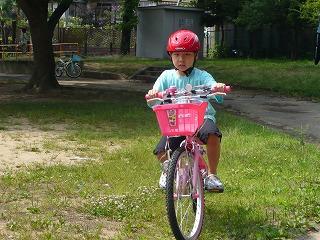 090627真由子自転車