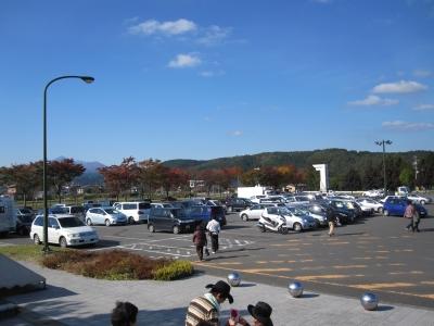 奥入瀬ろまんパーク今日の駐車場