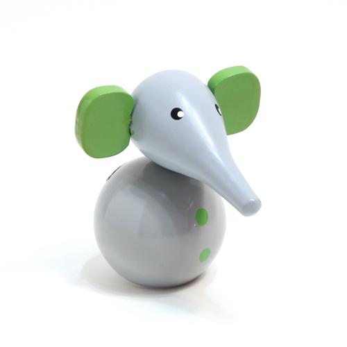正面:どこか懐かしいノスタルジックな「木製貯金箱 ELEPHANT(ぞう)」