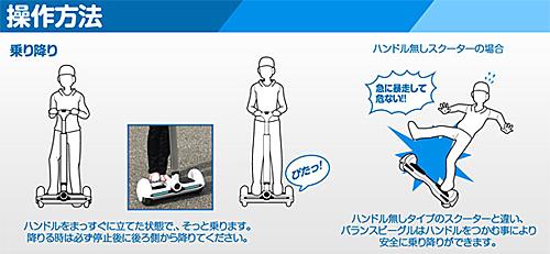 乗り降り:重心移動でスイスイ走る電動スクーター:バランスビーグル