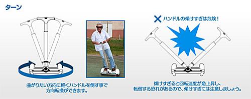ターン:重心移動でスイスイ走る電動スクーター:バランスビーグル