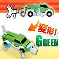 プレゼントや誕生日に!ゼンマイ仕掛けのびっくり変形自動車【オート・トランスフォーマー/グリーン】