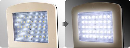 ピン操作:ソーラー充電式2センサー街路灯LED街路灯4W/550lm
