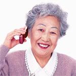 聞き方:聴きたい時だけ耳に当てれば聞こえる:骨伝導クリアーボイス