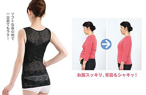 お腹スッキリ!背筋もシャキ!:ドレスアップ姿勢フィットインナー
