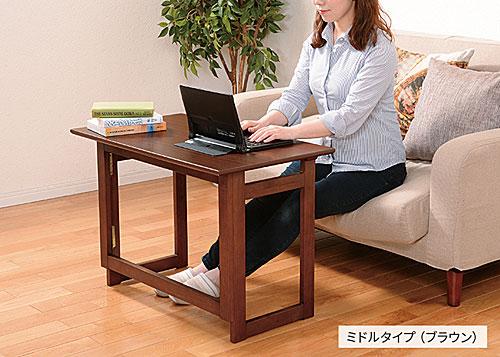 簡易机使用例:折りたたみテーブル