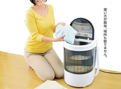コンパクト:パワフルミニ洗濯機