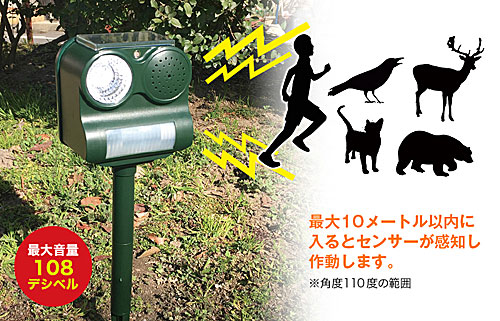 機能:害獣害鳥撃退ロボ ビッグバン