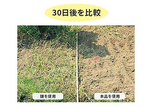使用前後比較:振動除草機 根こそぎセット