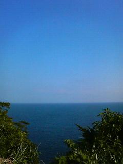 江ノ島島内からの海の眺め