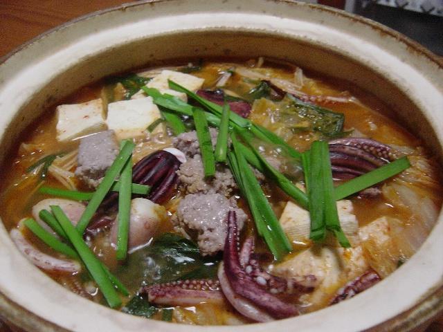 今日のキムチ鍋