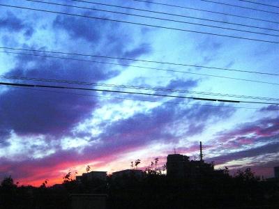 綺麗な色の空でした♪