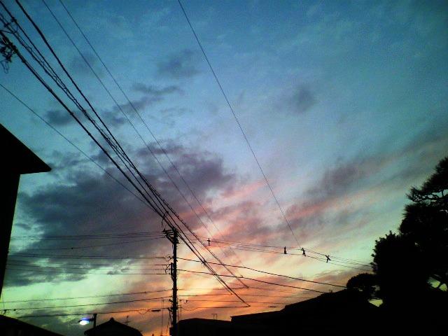 数日前の藤沢の夕暮れ時