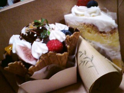 パルフェとショートケーキ