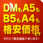 DMもA5もB5もA4も!格安価格