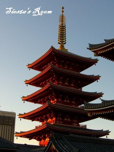 夕焼け五重塔