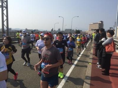 徳島マラソン 自分が走っている様子