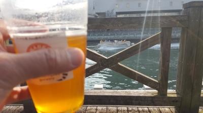 走った後、ランナーズオアシスでビールを