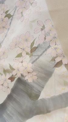 桜模様の着物1
