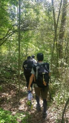 山の中をさらに歩く