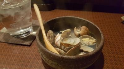 貝の酒蒸し