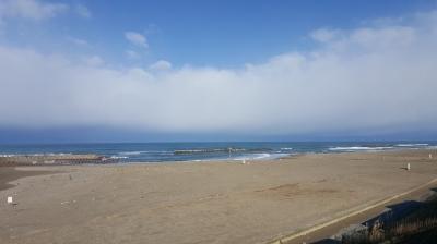 金沢までのPAからの日本海