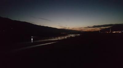 美馬市脇町からの吉野川